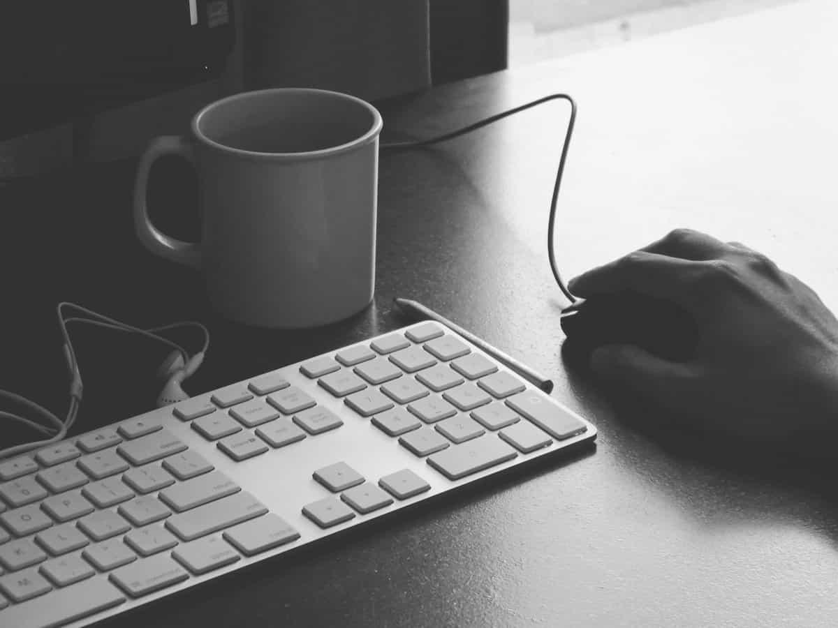 Tastatur Hand Maus Computer Tasse