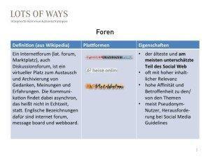 Foren - Definition, Plattformen, Vorteile für PR und Marketing