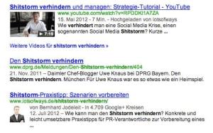 YouTube und Google+ Suchergebnis