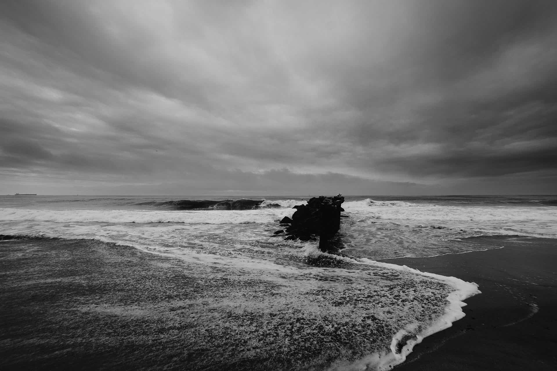 Sturm dunkle Wolken Meer Unwetter
