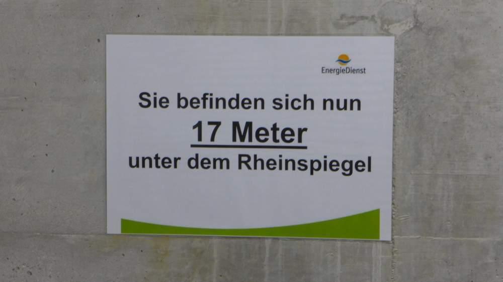 17 Meter unter dem Wasserspiegel des Rheins - und es geht noch weiter