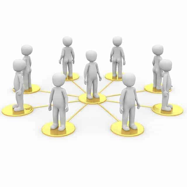 Personen bilden ein Netzwerk