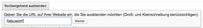 Google: Ganzes Verzeichnis mit gehackten Seiten aus den Suchergebnissen entfernen