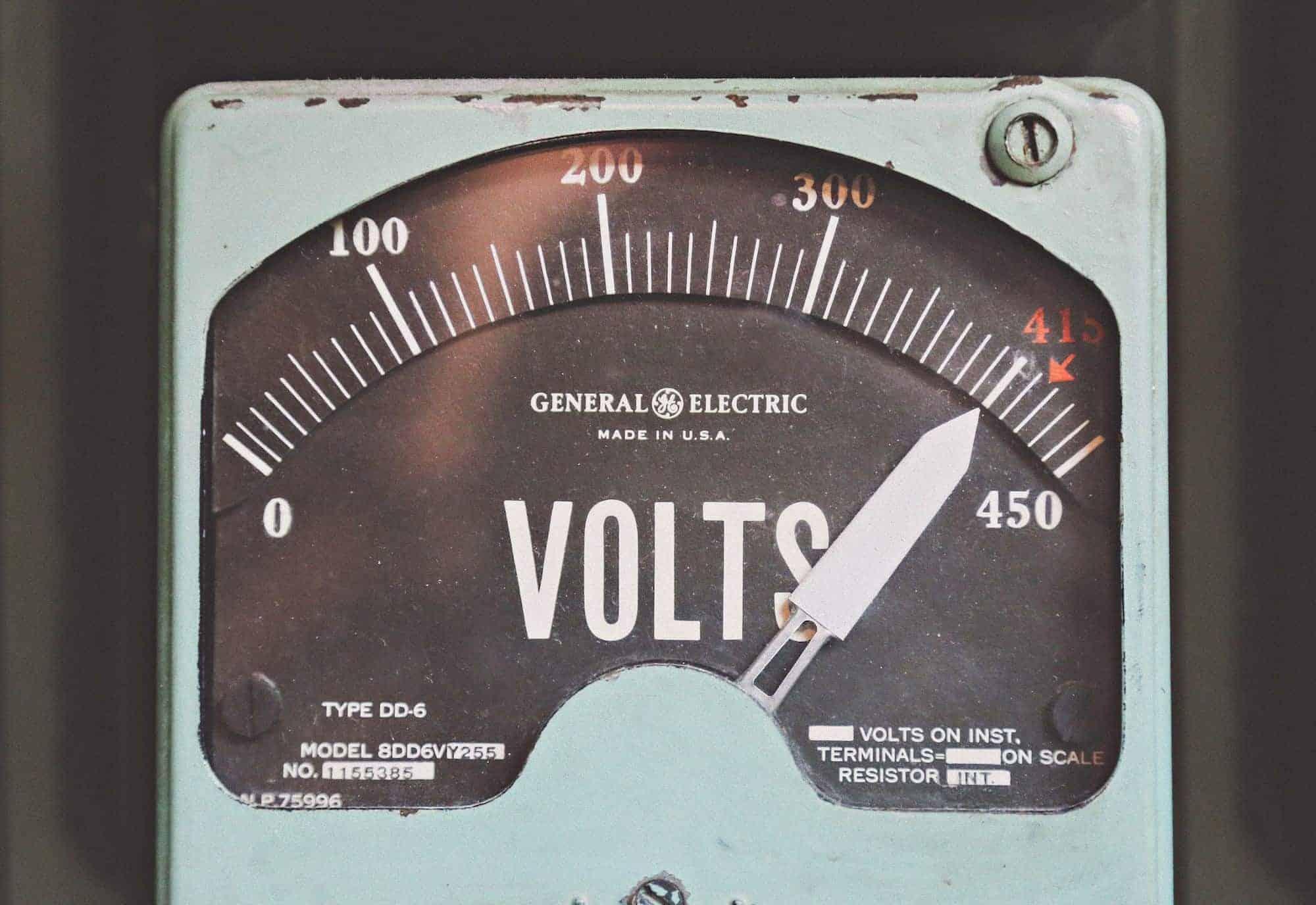 Voltmeter - measuring instrument