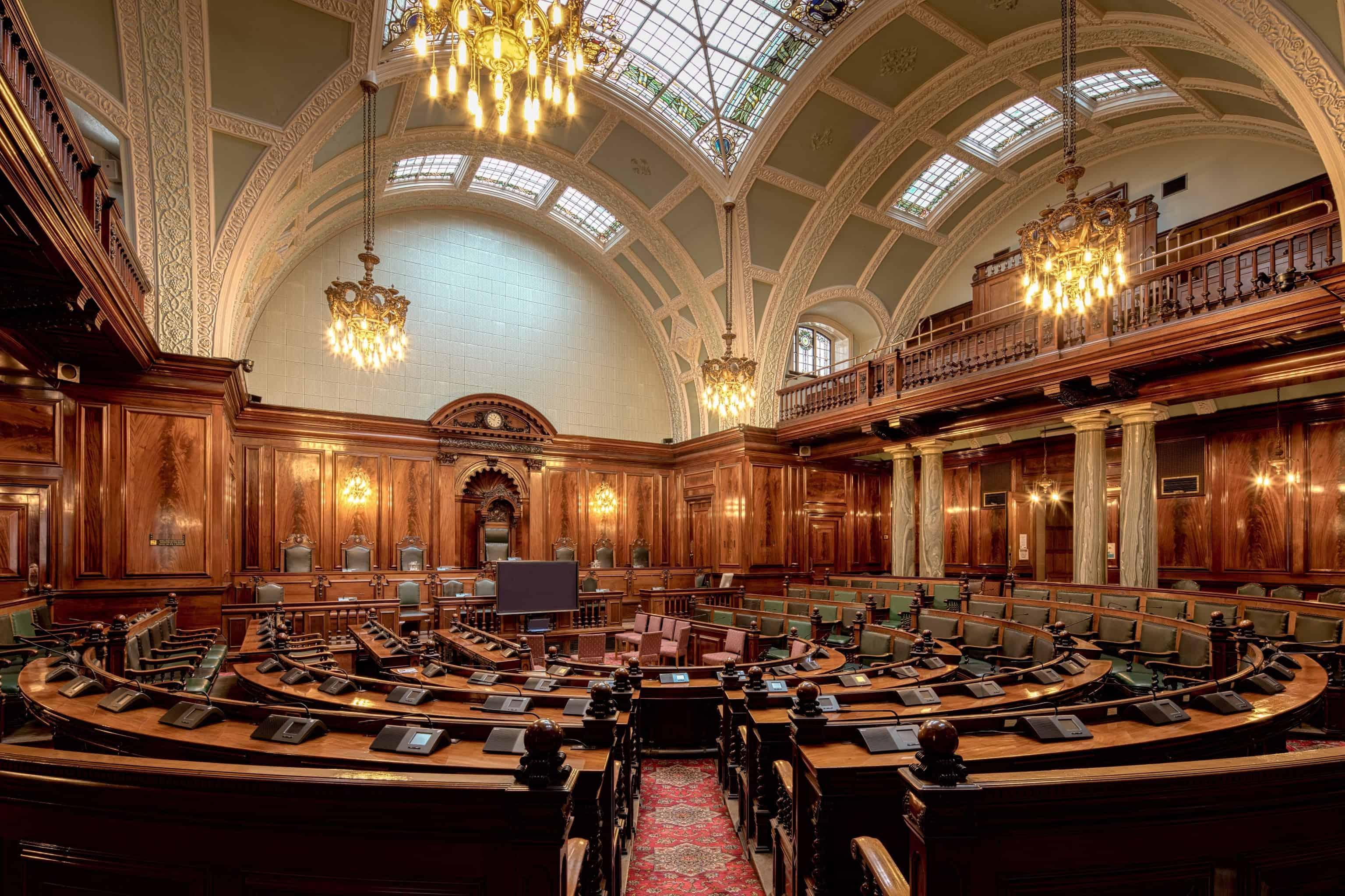 Symbolfoto strukturierte Debatten in Social Networks: Bradford City Hall Bradford United Kingdom