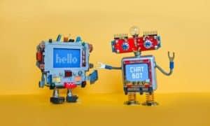Zwei Chatbots, die chatten