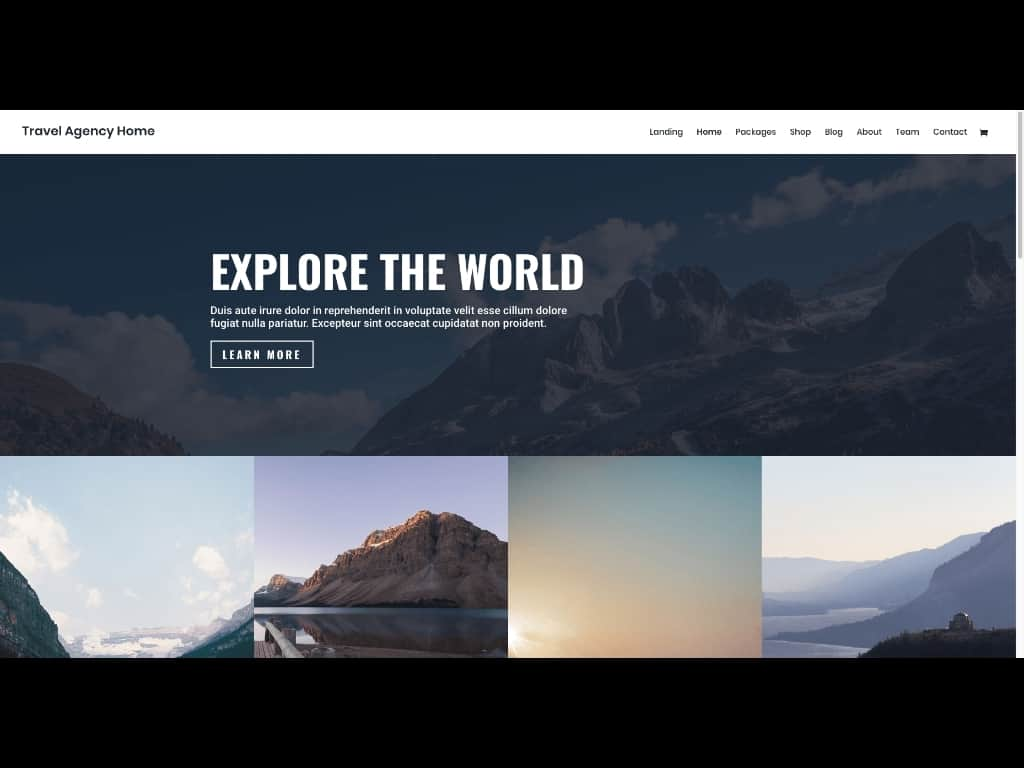 Travel Agencies may appreciate this free Layout Pack for the Divi Theme.