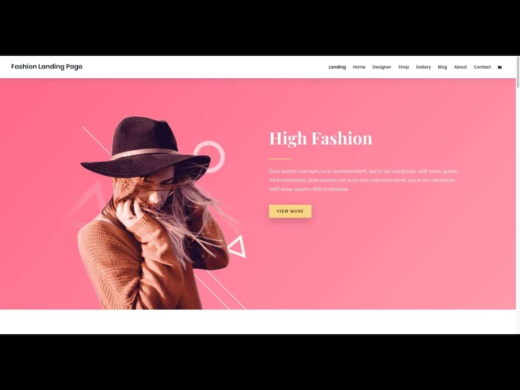 Screenshot Divi Layout Pack Fashion