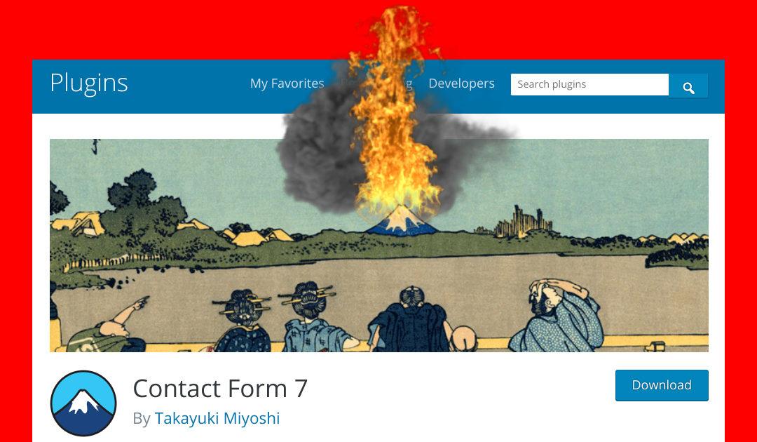 Contact Form 7 mal wieder nicht sicher: Websites werden gehacked